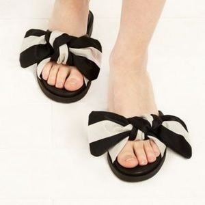 Miista Valerie Sandals, Black and White, Size 9